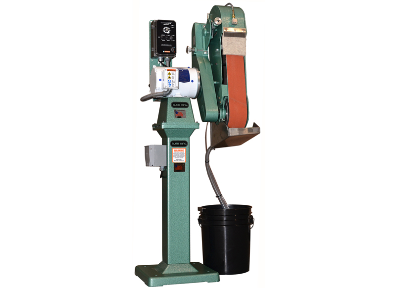 960-251 Wet grinder shown with included pedestal and filtration system. 960-251 comes in fixed or variable speed options.