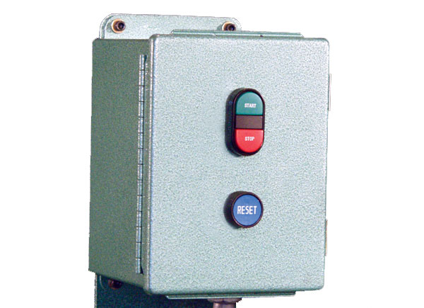 Optional Magnetic Starter with Integrated Timer. Available in single or three phase voltages.