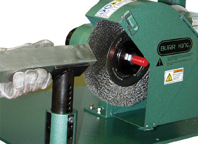 Model 1050 Tube Finisher shown with optional magnetic starter