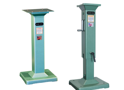 Optional pedestal available. The pedestal comes standard or adjustable. See the pedestal section for more information.