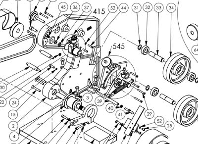 Replacement Parts on john deere 400 parts diagram