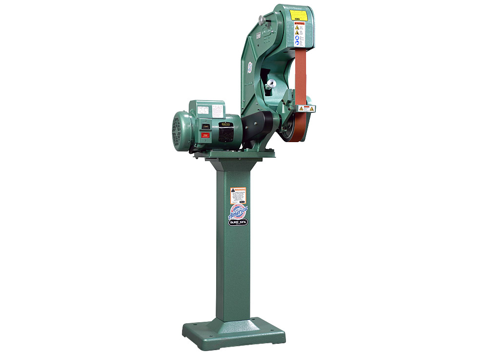 75100 - 760 belt grinder / sander shown on optional 01 pedestal