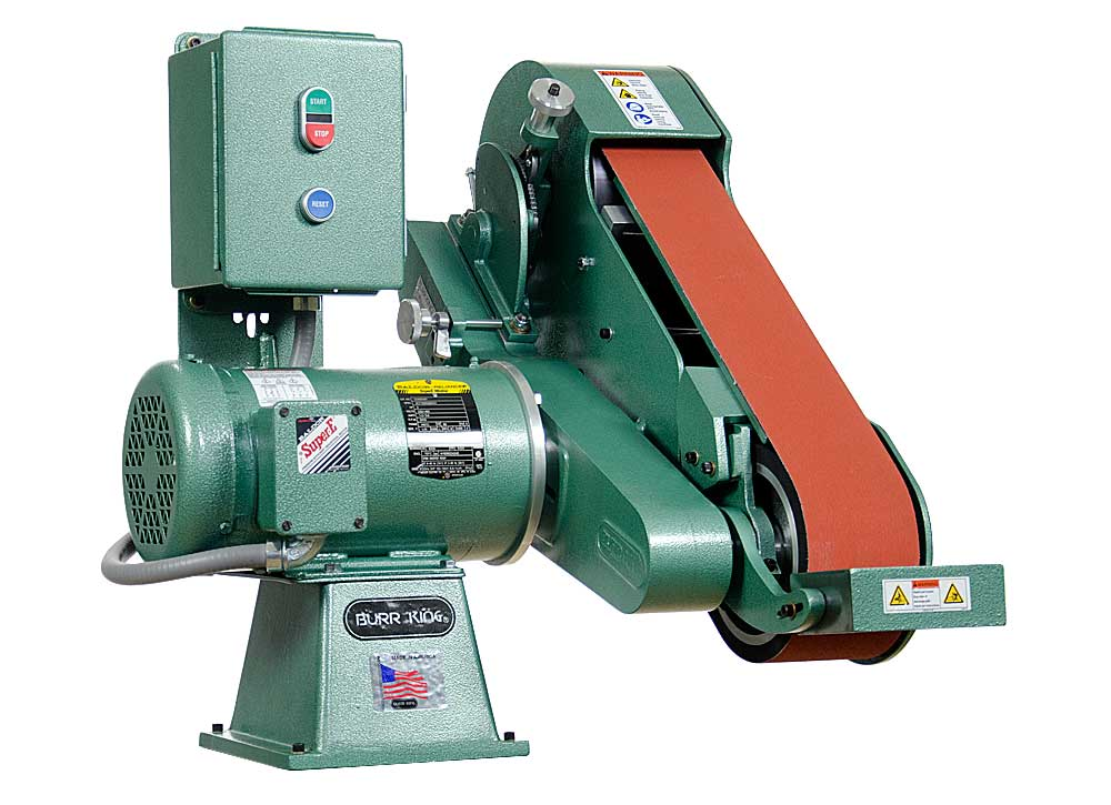 95103 960-400 belt grinder / sander shown with included workrest.
