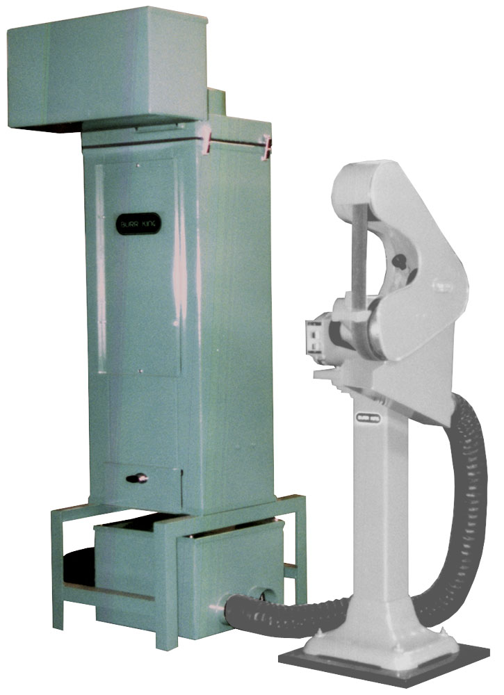 BK100 Dust Collector is a stationary collector that easily collects from two machines.