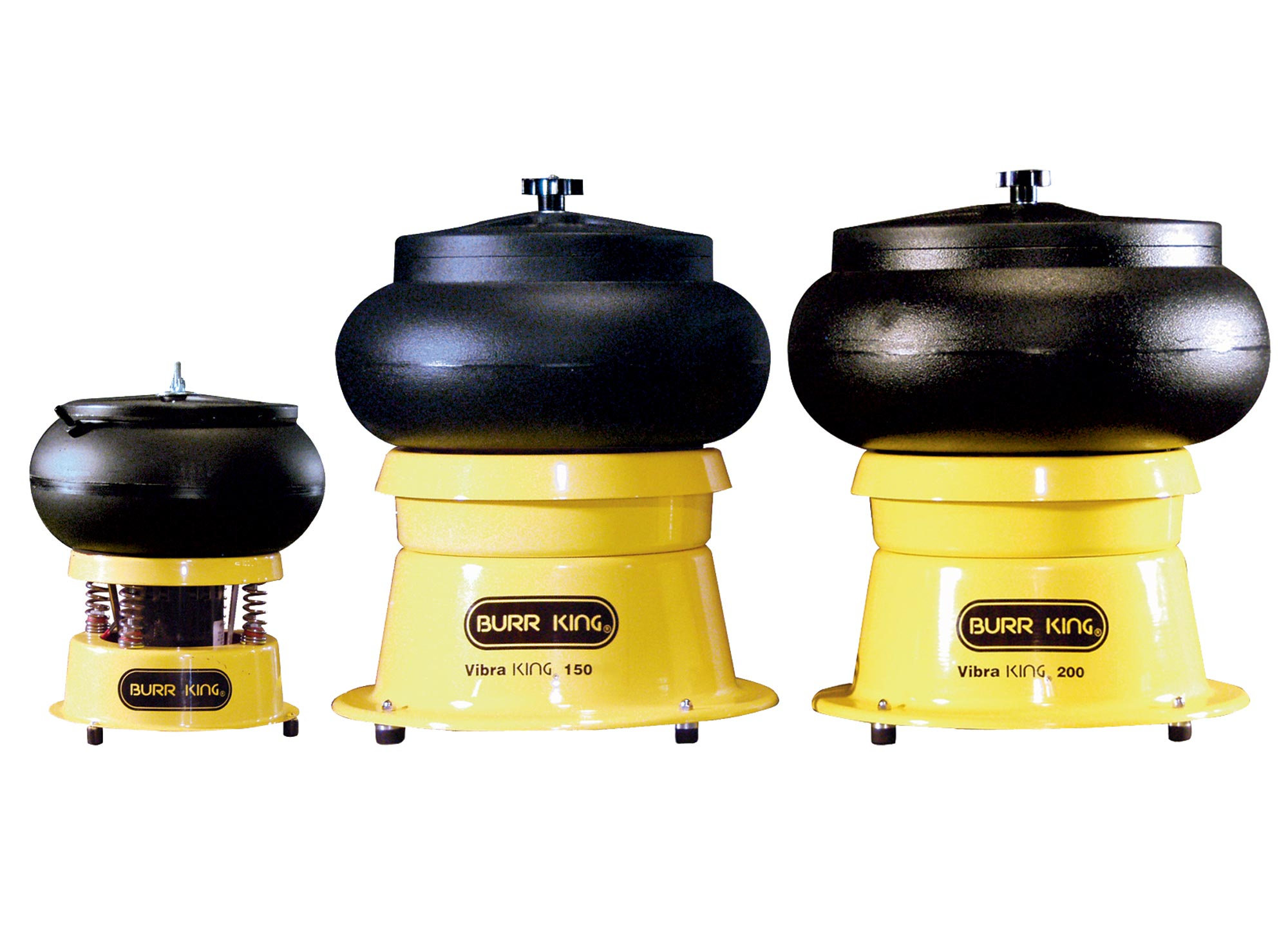 Burr King Bench-Top Vibratory Bowls