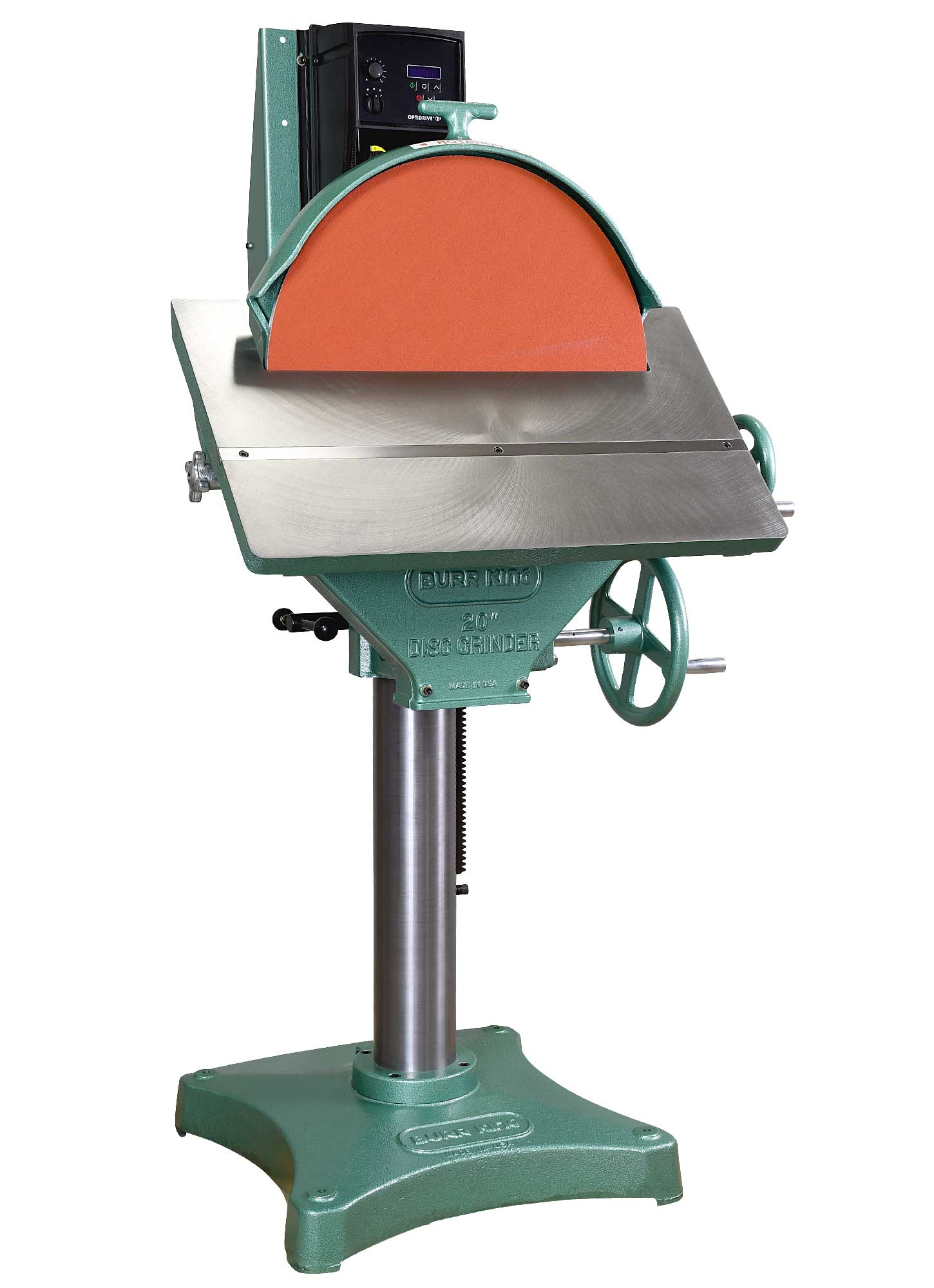24103 - 20` Variable Speed Disc Grinder, 45 degree table tilt, gear driven