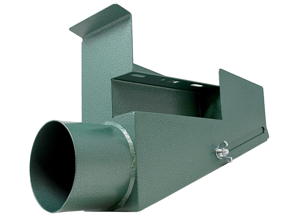 DS4 dust scoop for the M482 2 x 48 belt grinder - machine mount side