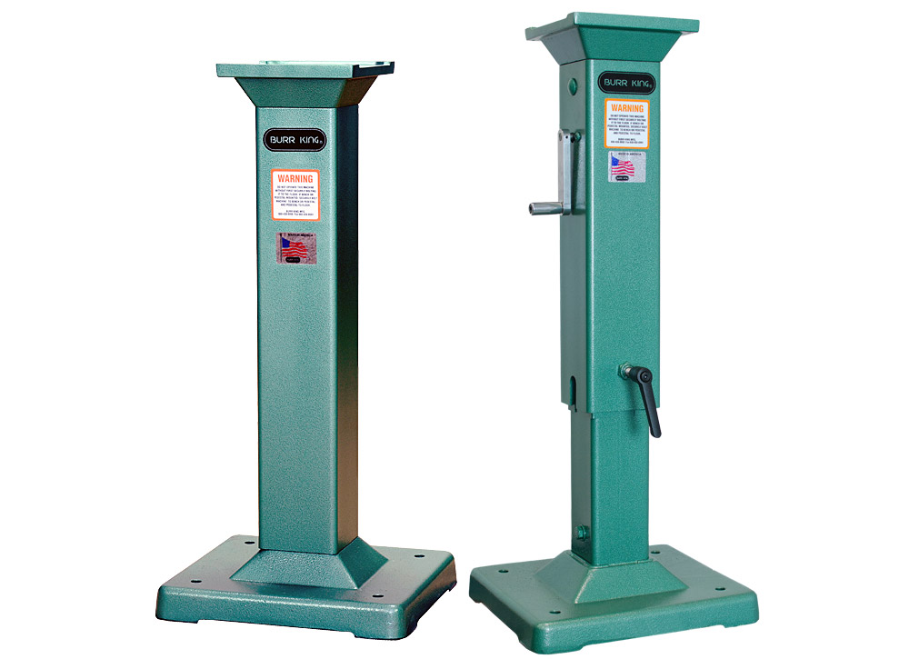 Fixed and Adjustable height pedestals are available for your 960-400 belt grinder.