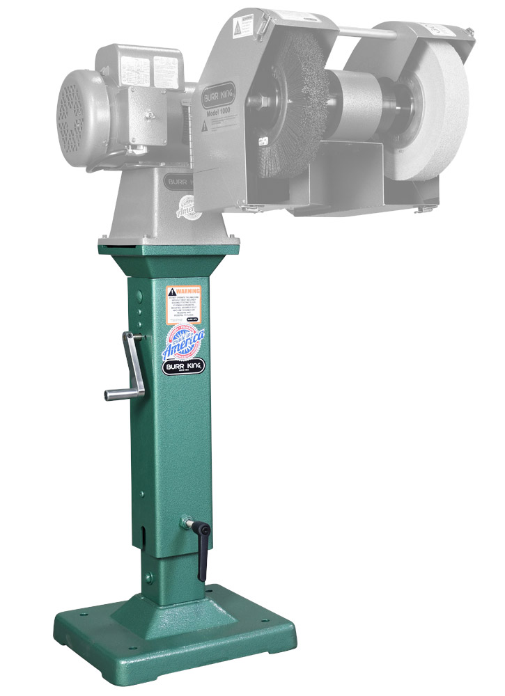 02-10 Adjustable height pedestal with M1000 -14200 polishing lathe