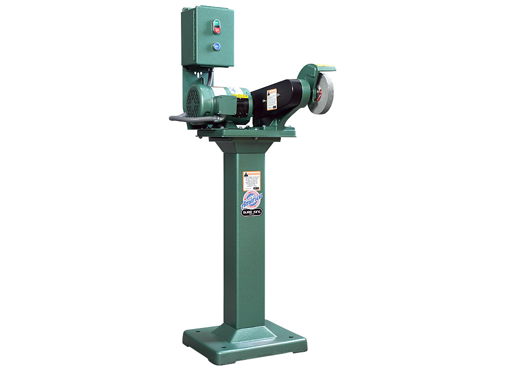 60403 model 600 polishing lathe / buffer / deburring machine, with optional wheel, 01 pedestal,