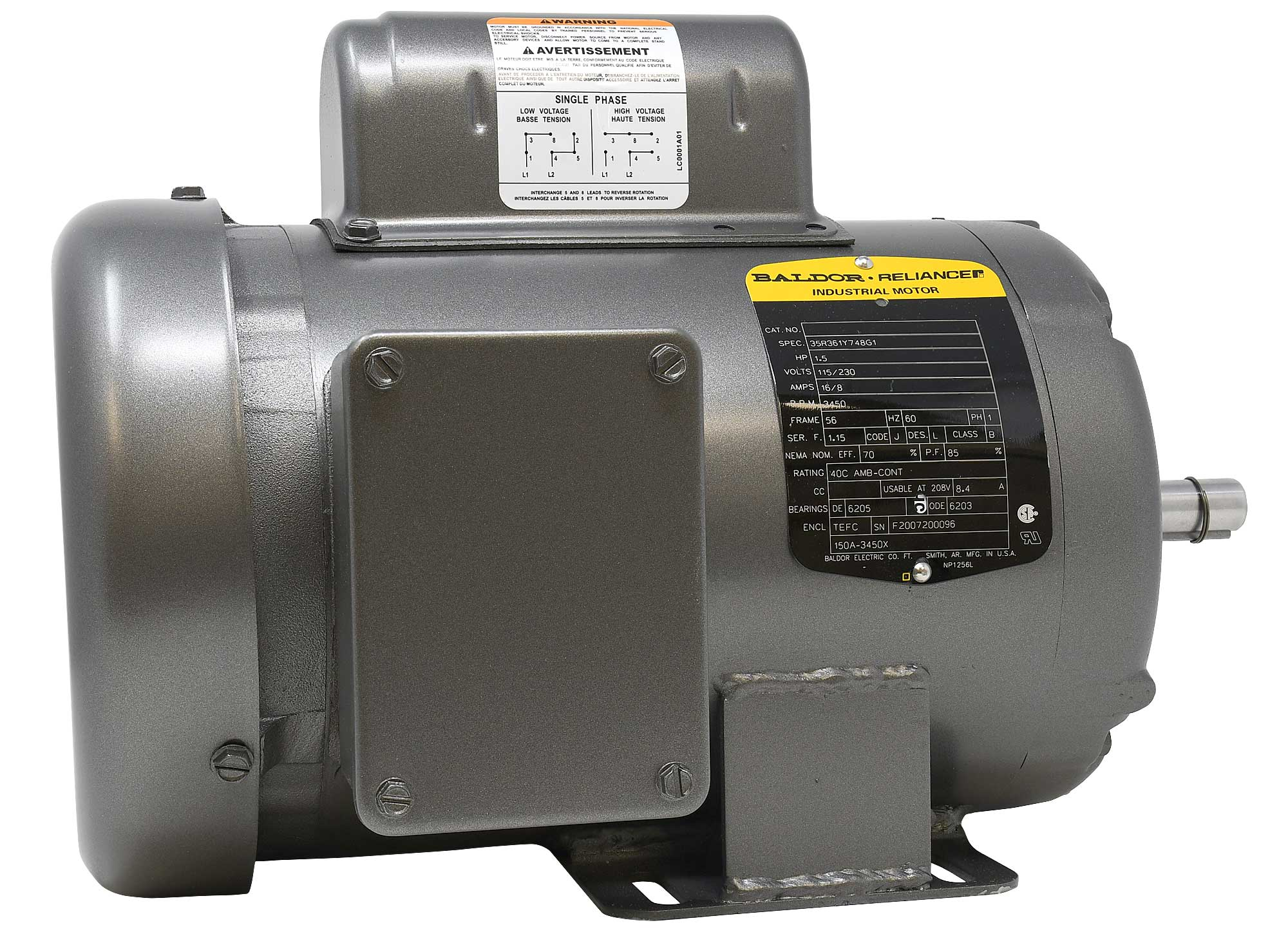150A-3450X motor for the VibraKing 25 & 45