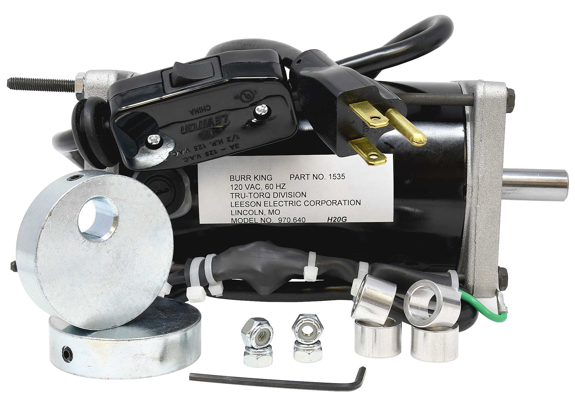 1535KIT contains necessary parts to replace your old style motor in the 150/200 small vibratory bowls.
