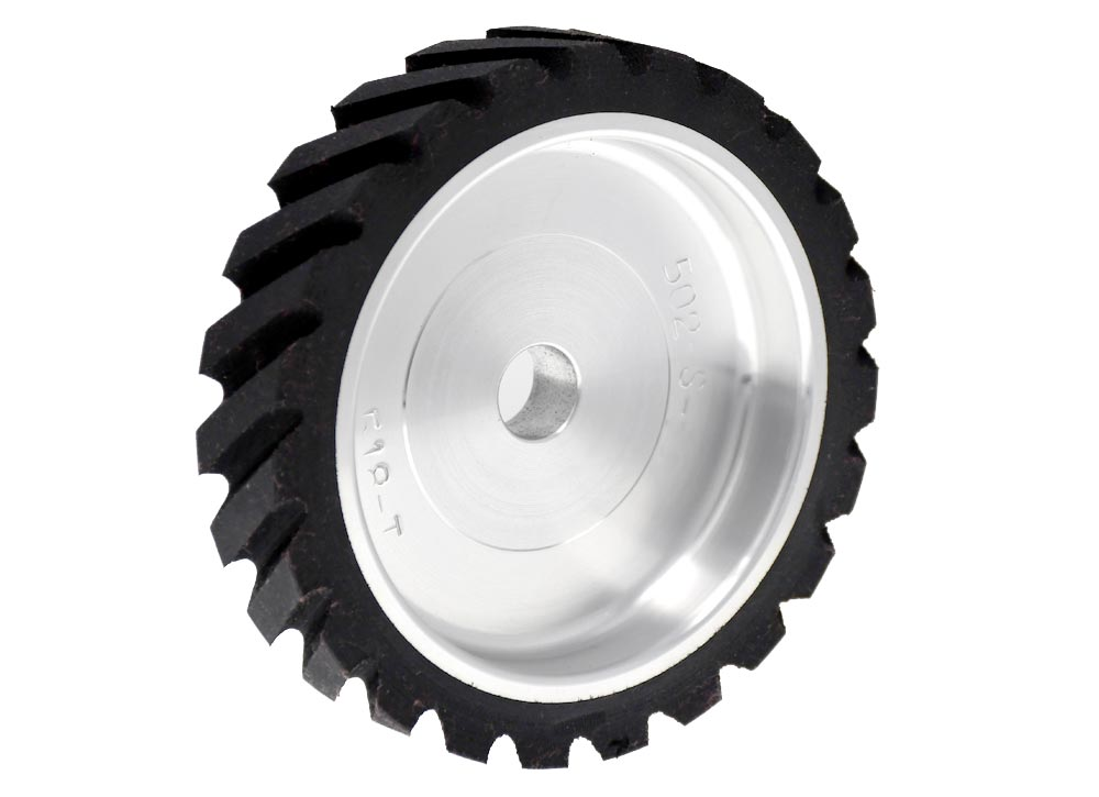 502-S-90 - Serrated Contact Wheel, 4-3/4 x 1, 90 Duro.