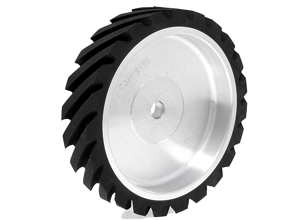702-S-55, Serrated Contact Wheel, 7 x 1-1/2, 55 Duro.