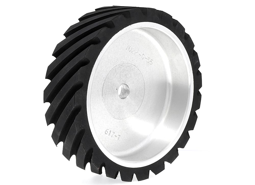 7022-S-55 - Serrated Contact Wheel, 7 x 2, 55 Duro.